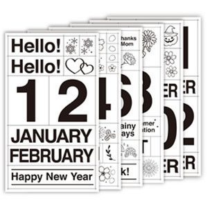 Journal Calendar Stickers 2020