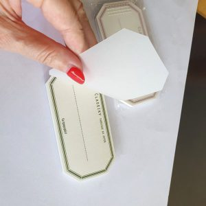 CLASSIKY – Letterpress Water Adhesive Labelbooks