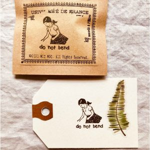 Mic Moc – 'Do Not Bend' Rubber Stamp – Vintage Post