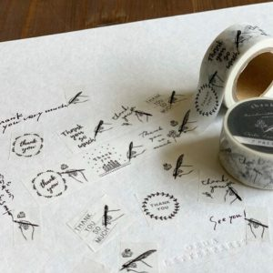 Oeda Letterpress – Thank You #2 – Handwritten Maskingtape