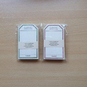 Classiky Letterpress Label Cards