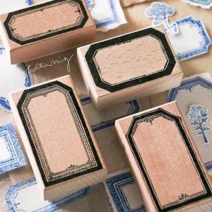 LCN Vintage Label Rubber Stampsets A-B-C