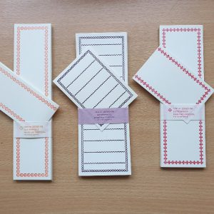 Classiky Letterpress Folded Memo Cards
