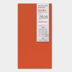 2020 Monthly Diary TRAVELER'S Notebook