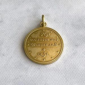 "Baum-kuchen ""Not All Those Who Wander Are Lost"" – Brass Charm"