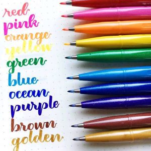 PENTEL Fude Brush Pens (2 Sets)