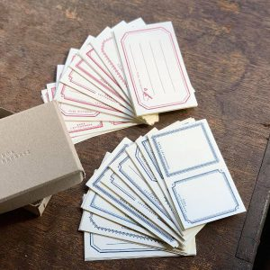 Oeda Letterpress Stickerbox Red&Blue