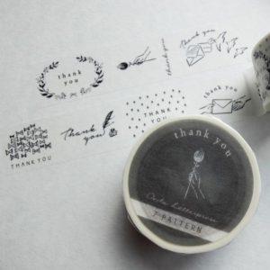 Oeda Letterpress – Thank You Masking Tape #1 – 7 Patterns