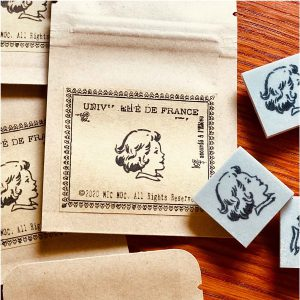 Mic Moc – 'Vintage Girl Portrait' Rubber Stamp –