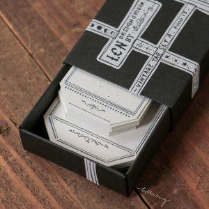 LCN Design – Letterpress Vintage Tag – Set A (tag-shaped)
