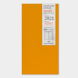 2021 Weekly Vertical Diary TRAVELER'S Notebook
