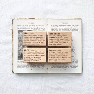 Liberty Dictionary Set – Notes / Gift / Handmade / Yarn