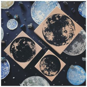 LCN – Moon Rubberstamp – 3 Sizes