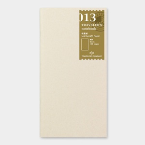 013. Light Weight Paper (128pg) TRAVELER'S Notebook