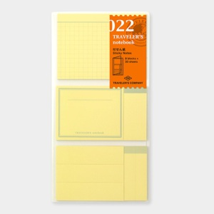 022. Sticky Notes Folder TRAVELER'S Notebook