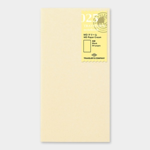 025. MD Paper Cream Refill TRAVELER'S Notebook