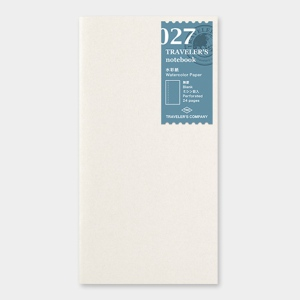 027. Watercolor Paper Refill TRAVELER'S Notebook