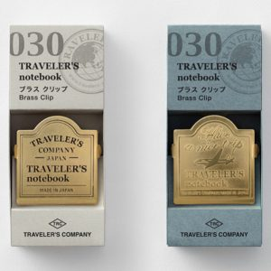 030. Brass Clips TRAVELER'S Notebook