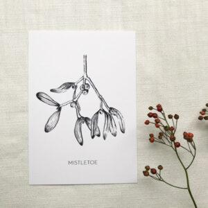 Artprint A5 'Mistletoe'- By Caroline Vieira