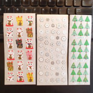 JAPANESE Christmas And NewYears Stickers