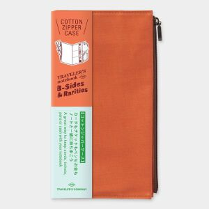 Traveler's LTD Edition – Cotton Zipper Case Regular ORANGE – Preorder