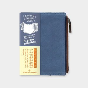 Traveler's LTD Edition – Cotton Zipper Case Passport BLUE – Preorder