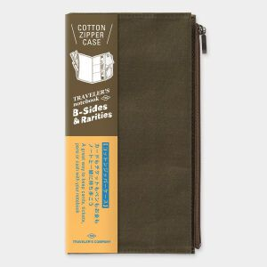 Traveler's LTD Edition – Cotton Zipper Case Regular OLIVE – Preorder