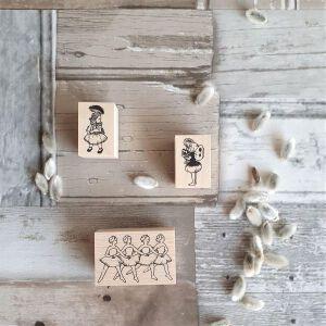 Krimgen Stamps –  Four Swans & Alice Mushroom & Fairy Flower