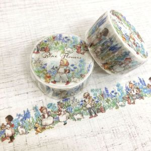 Krimgen Blue Flowers Washi