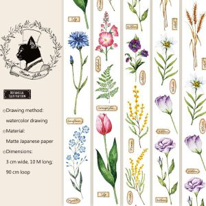 Miao Stelle -Botanical Illustration Washi Tape