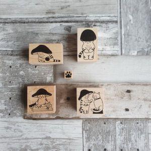 Mushroom Cat Stamps #3