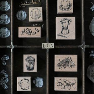 LCN Design – Coffee Rubber Stampsets – PREORDER