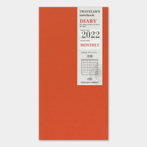 2022 Monthly Diary TRAVELER'S Notebook