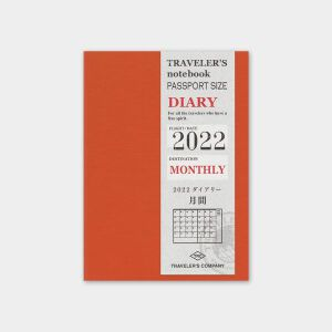 Diaries 2022 – Monthly Refill Passport Size