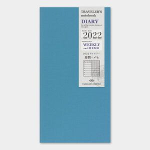 2022 Weekly + Memo Diary TRAVELER'S Notebook