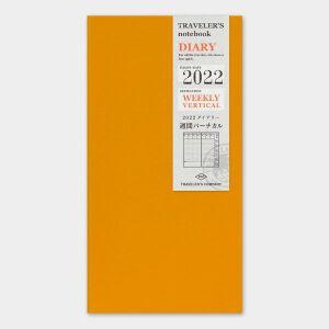 2022 Weekly Vertical Diary TRAVELER'S Notebook