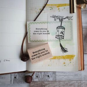 'Everything Comes …. '- Exclusive Quote Stamp