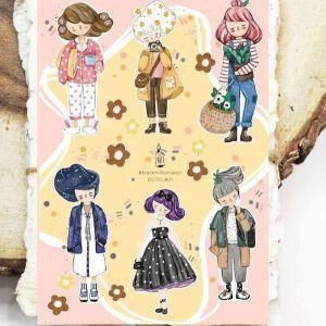 BlackMilk Project NEW Stickers : Girls OOTD #01
