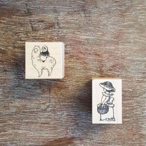 Krimgen Stamp #112 Mushroom Girl And Lama (2018)