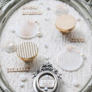 LCN Design – Wax Seal Stampsets – PATTERNS: Plaid & Dot Lines -Preorder