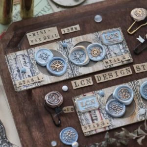 LCN Design – Mini Wax BRASS Seal Stampsets – Stars 1 & 2 =  Preorder