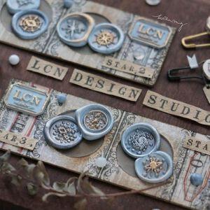 LCN Design – Mini Wax BRASS Seal Stampsets – Stars 3 & 4=  Preorder
