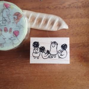 Krimgen Stamps – #128 Mushroom Children Stamp