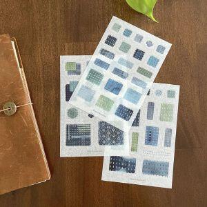 """Baum-kuchen Planner Sticker """"Sashiko"""""""